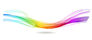 Abstract colorful background with wave over white